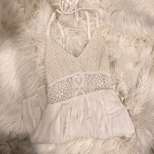 f3400cdcf80c Abercrombie   Fitch Pants - abercrombie   fitch white lace sheer waist  romper